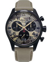 AL-372MLY4FBS6 Startimer 44mm Swiss Pilot Quartz Chronograph with Big Date