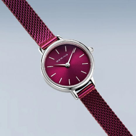 Purple toned minimalistic ladies quartz watch Collezione Primavera / Estate Bering