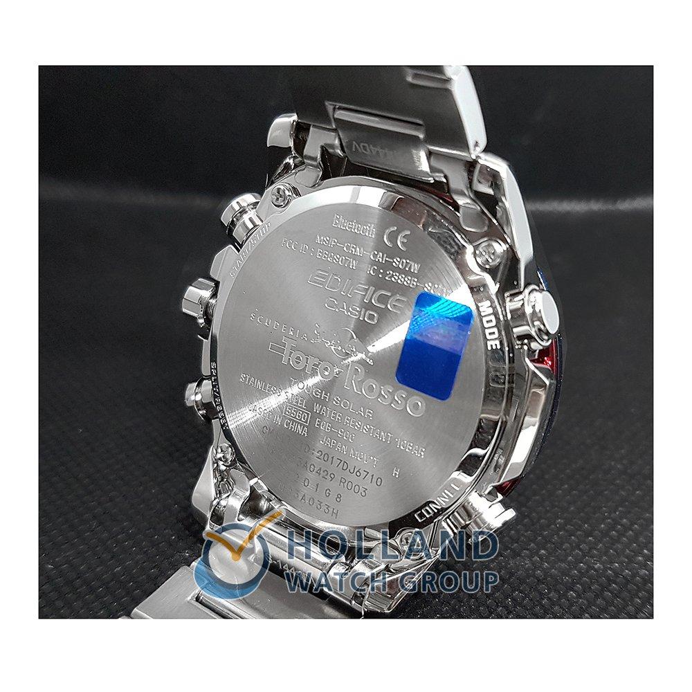 61b8c2e1acac Casio Edifice orologio azzurro o blu. orologio argento Quartz Chronograph. Cronografo  acciaio ...