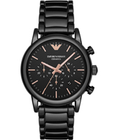 AR1509 Luigi XLarge 43mm Black ceramic chronograph watch with date