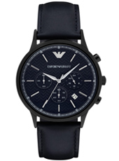 AR2481 Renato Large 43mm Dark Blue Chronograph with Date