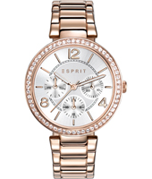 ES108982003 Essentials 36mm Rose gold ladies quartz watch with day/date