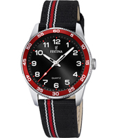 F16906/3 Junior 34mm Steel Quartz Watch with Nato Strap