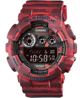 GD-120CM-4ER Camouflage 51.20mm G-Shock digitale rosso