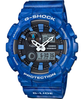 GAX-100MA-2AER G-Lide Special Color 51.20mm Orologio G-Shock blu analogico-digitale