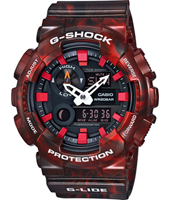 GAX-100MB-4AER G-Lide Special Color 51.20mm Orologio G-Shock rosso analogico-digitale