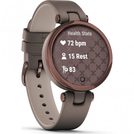 Bronze and Paloma ladies multisport smartwatch with leather strap Collezione Primavera / Estate Garmin