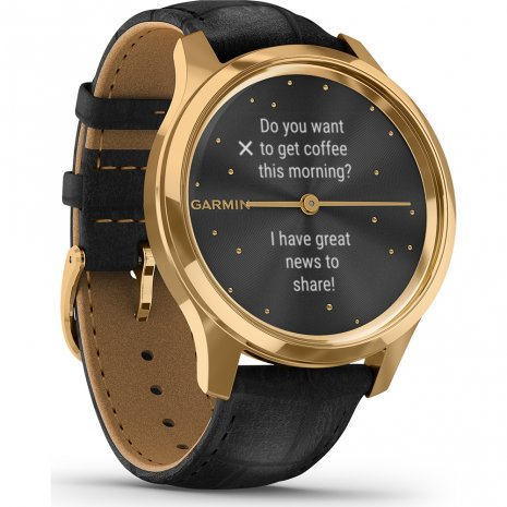 24K Gold Hybrid Smartwatch with hidden touchscreen Collezione Primavera / Estate Garmin