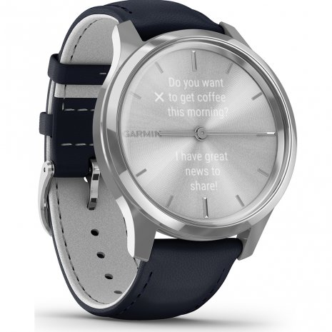 Stainless Steel Hybrid Smartwatch with hidden touchscreen Collezione Primavera / Estate Garmin