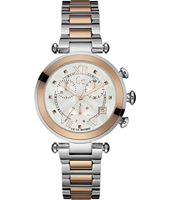 Y05002M1 Lady Chic 36.50mm Bicolor Rose Ladies Quartz Chronograph