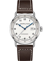 H77715553 Khaki Navy - Pioneer 43mm Swiss Automatic Gents Watch with Date