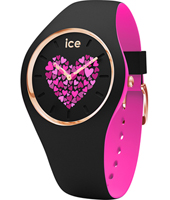 013371 Ice-Love 41mm Black & pink silicone watch