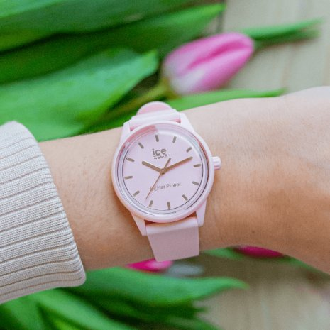 Pink solar powered quartz watch Collezione Primavera / Estate Ice-Watch