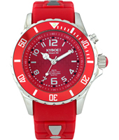 FW.40-004 Aurora Red 40mm Midsize red quartz diver