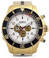 SBC.55-010 Chrono Steel Gold Estate 55mm XL gold chronograph diver