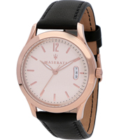 R8851125002 Tradizione 40mm Rose gold & black gents quartz watch