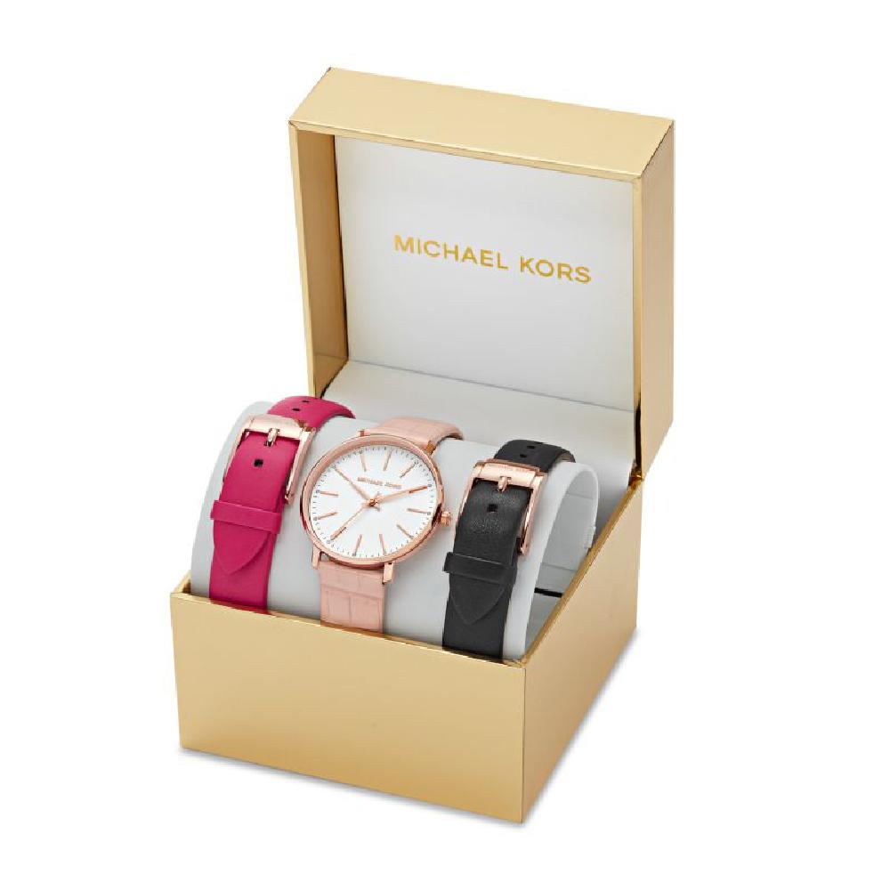 91ccb8b240 Set regalo orologio da donna con due cinturini extra in cuoio Collezione  Autunno / Inverno Michael