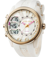 PL14249JPWG-04 Tactical 52mm White Ana-Digi Watch with DayDate