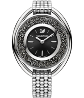 5181664 Crystalline Oval 37mm Swiss Watch with Loose Crystals in Dial