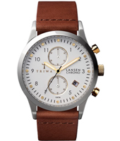 LCST106CL010212 Lansen Chrono 38mm Quartz Chronograph with hand made Leather Strap