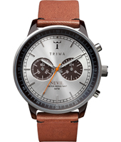 NEAC102-B Nevil Chrono 42mm Crono argento e marrone