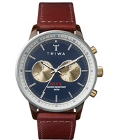 NEAC118SC010313 Nevil Chrono 42mm Quartz Chronograph with Brown Leather Strap