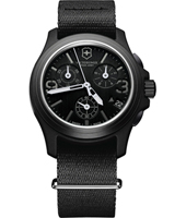 241534 Swiss Army Original 40mm Black Swiss Made Army Chronograph